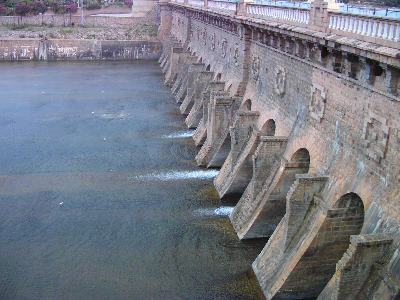 Cauvery statue near the Krishnarajasagara Dam