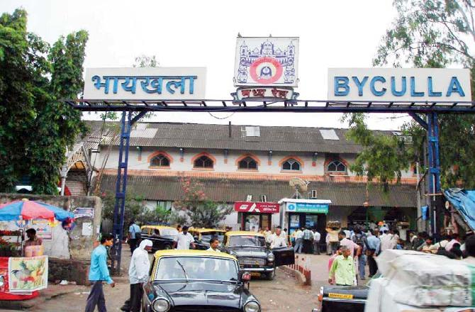 Beautification of Byculla station in Mumbai