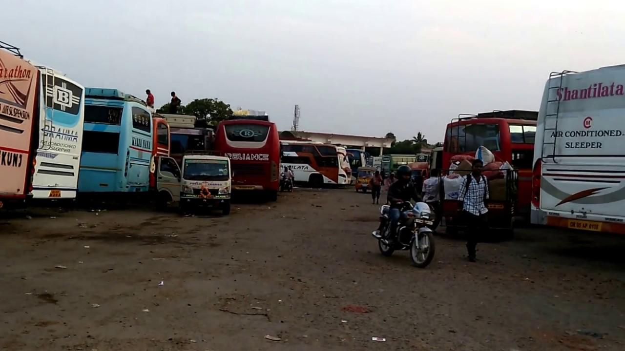 Bus depot at Khandagiri