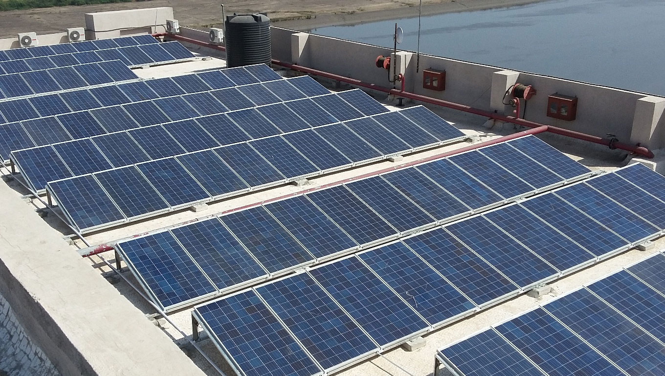 Rooftop solar plant on TTMC depot in Bengaluru