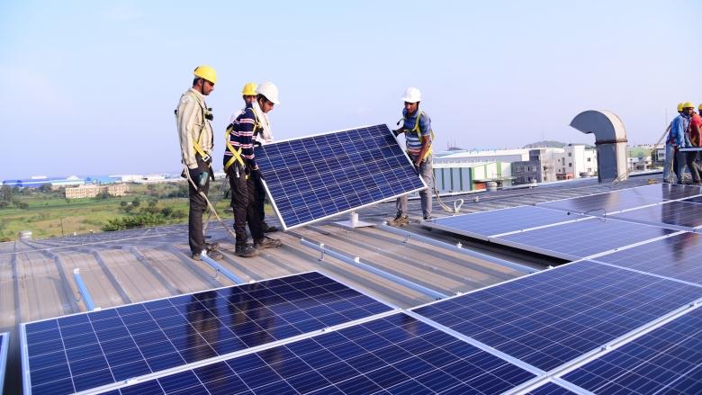 Solar panel installation on SMC buildings